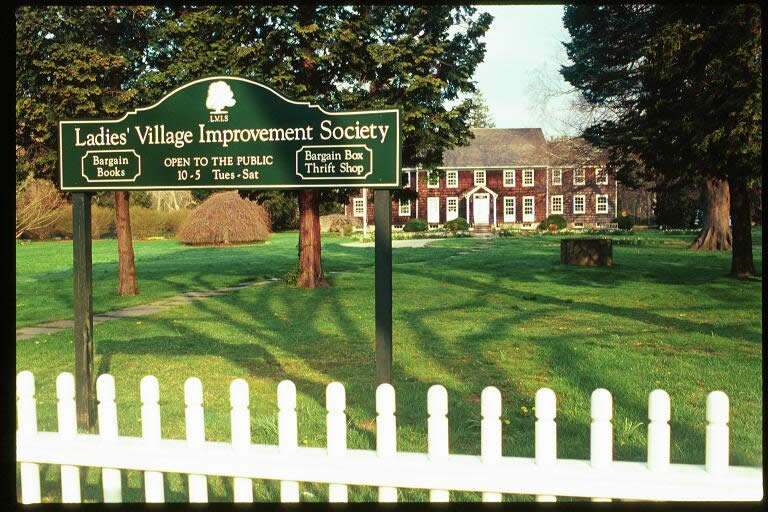 The Ladies' Village Improvement Society sign and house